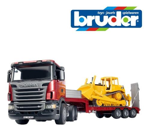 Scania R-serie Con Cat Excavadora 1:16 Bruder 3555 Alemania