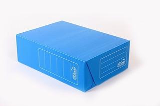 Caja Plana 38x28x12cm Legajo Azul (vte.lopez/s.isidro)
