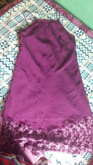 Vestido De Gasa Corto Purpura
