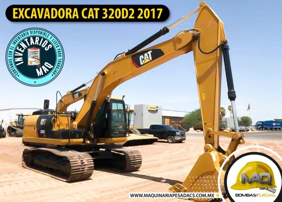 Excavadora Caterpillar 320d2 2017