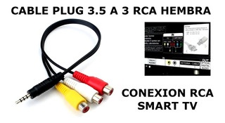 Adaptador Cable Smart P /tv Led Lcd Marcas Vs 3.5mm A 3 Rca