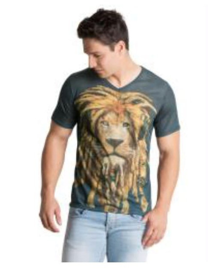 Camiseta Rei Leão Rasta Jamaicano