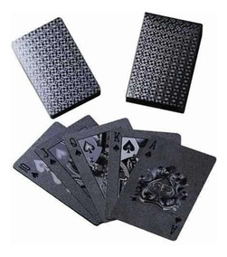 Baralho Preto Black Poker 52 Cartas Lançamento Truco Jogos