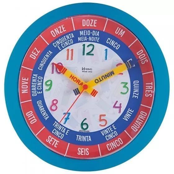 Relógio Parede Herweg Educativo ( Fala A Hora Cheia) Azul