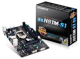 Placa-mãe Gigabyte Ga-h81m-s1 Ddr3 Lga 1150 Matx Usb 3.0