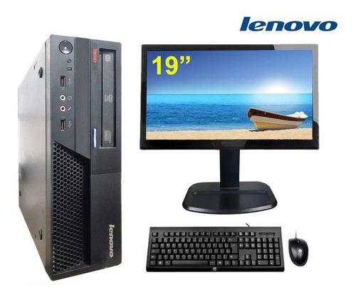 Imagem 1 de 7 de Computador Lenovo Core 2 Duo 4gb Ssd 120gb Monitor 19,5