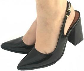 be2264db68 Salto Preto Grosso Fechado - Sapatos no Mercado Livre Brasil