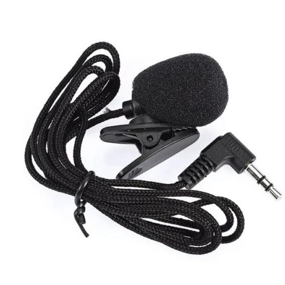 Microfone De Lapela P2 3.5mm Preto