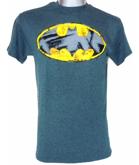 Playera Batman Scratched Logo Original Dc Comics