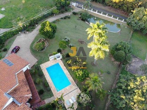 Excelente Chácara Com 3 Dormitórios À Venda, 5200 M² Por R$ 2.900.000 - Lagos De Shanadu - Indaiatuba/sp - Ch0621