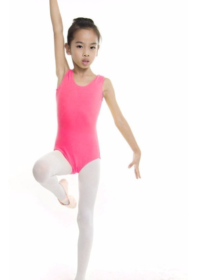 Leotardo Niña Ballet Baile Gimnasia Tutú Algodón Spandex Bod
