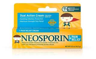 Crema Alivio Neosporin Primeros Auxilios Antibióticos +
