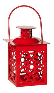 Mini Lanterna Marroquina Luminária Decorativa Para Vela Led