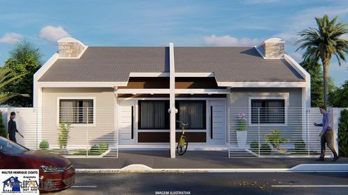 Imagem 1 de 8 de Casa Para Venda Em Fazenda Rio Grande, Eucaliptos, 3 Dormitórios, 1 Banheiro, 1 Vaga - Faz5665_1-1877071