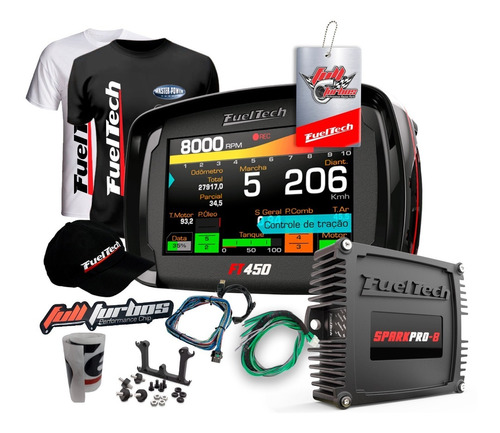 Fueltech Ft450 + Sparkpro 8