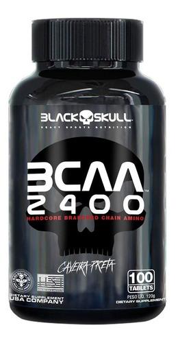Aminoácido 2400 - 100 Tab - Black Skull Caveira Preta