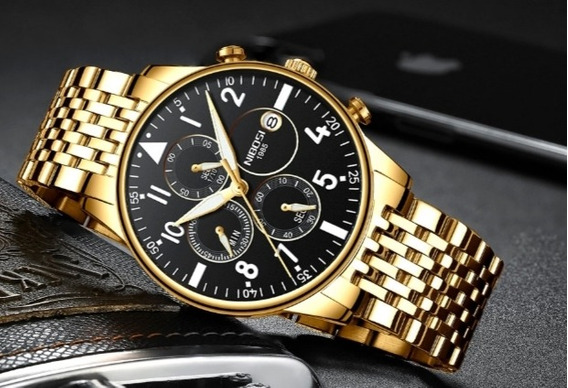 Relógio Nibosi 2368 Social Elegante À Prova D