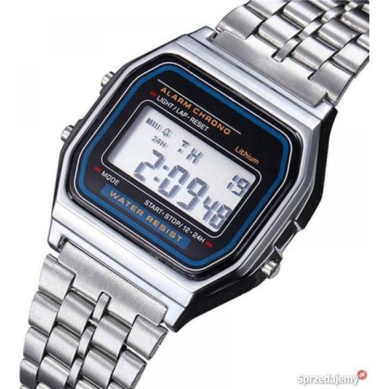 Relógio Masc. A158wa-1df Prata Dig. Á Prova Dágua - Casio