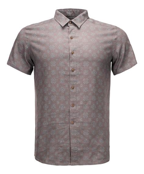 Camisa Hombre Lippi One Way Sleeve Gris V20