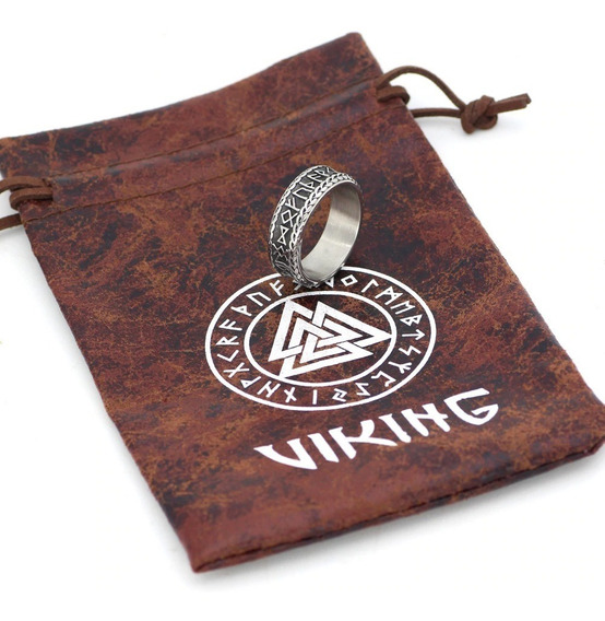 Anel Nórdico Viking Runas Aço 316l