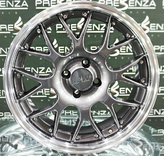 4 Roda 17 Bbs 4x100 Gol Hb20 Voyage Saveiro Up Kicks Clio Celta Astra Vectra Corsa Agile Onix 773 Grafite Diamantado Prz