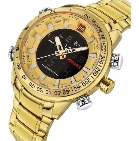 Relógio Naviforce 9093 Dourado/azul