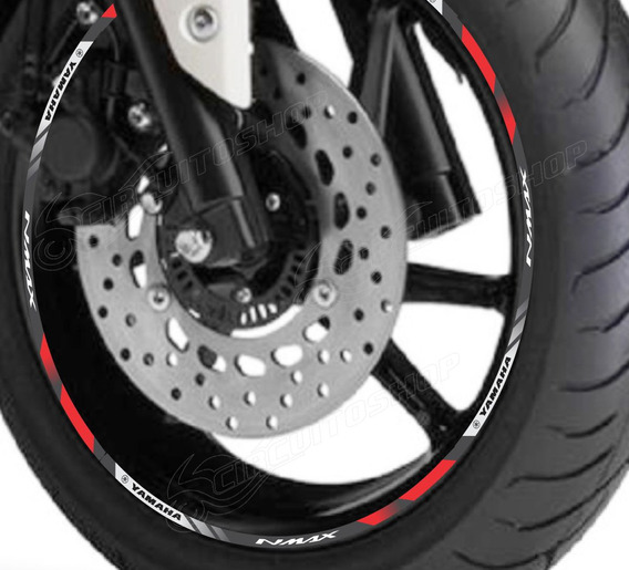 Friso Adesivo Refletivo D10 Roda Moto Yamaha Nmax N Max 160