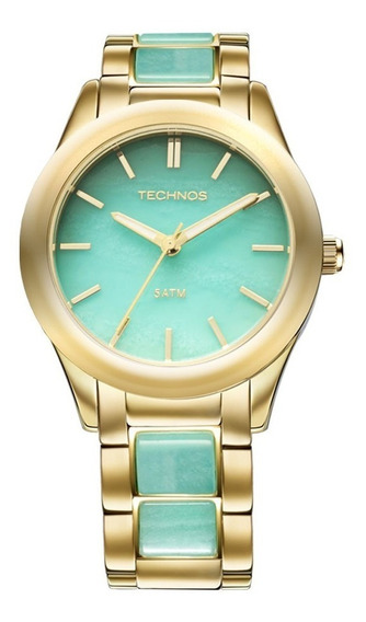 Relógio Technos 2033ag/4a Elegance Pedra Turquesa L3
