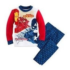 Pijama Capitão America E Iron Man Original Disney Store