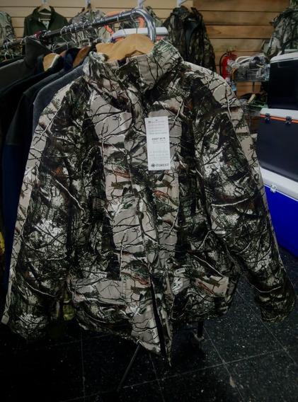 Campera Térmica Forest Leather Camuflada - Nuevo Diseño