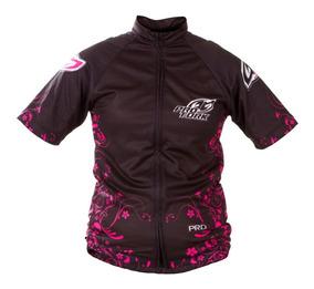 Camisa Ciclismo Bike Bicicleta Protork Line Girls Pink/preto