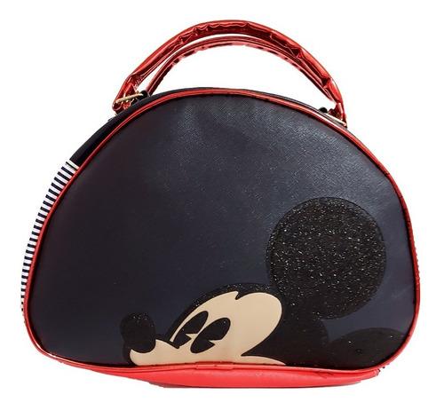 Imagen 1 de 5 de Bolsa Para Dama De Disney, De Mickey Mouse En Rojo Y Negro