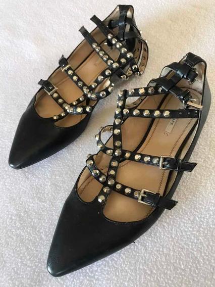 Sapatos Zara, Basic Collection, Fem., N 38, Preto Com Taxas