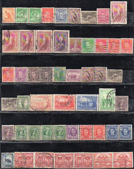 Australia 1937/65. Lote De 238 Sellos Semimodernos Usados