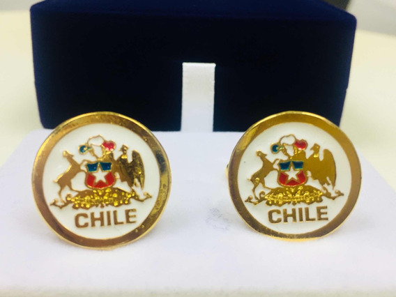 Colleras Chilenas Bañadas En Oro De 18 Kilates Encaja