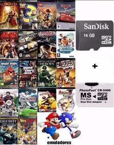 60 Jogos Para Psp + Cartão Memória 16gb