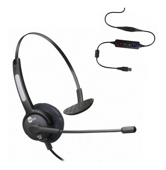 Headset Usb Voip C/ Cancelador De Ruído Htu-300 - Topuse