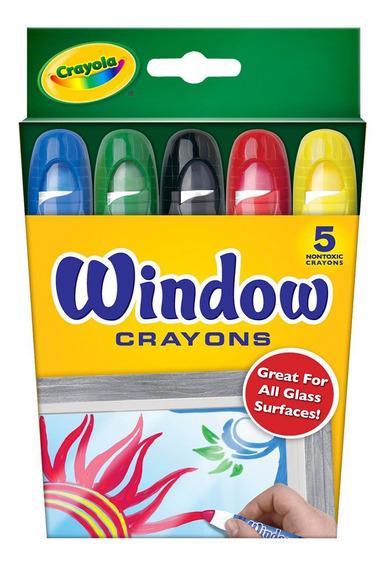 Crayones Lavables Para Vidrio Crayola X5