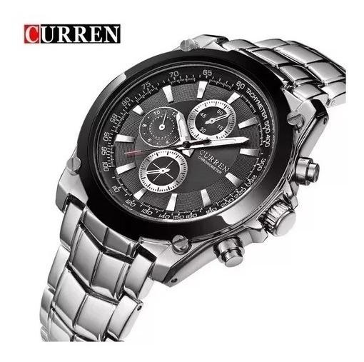 Relógio Masculino Metal C/ Garantia Curren 8023