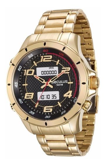 Relógio Masculino Seculus 28771gpsvda1 Dourado