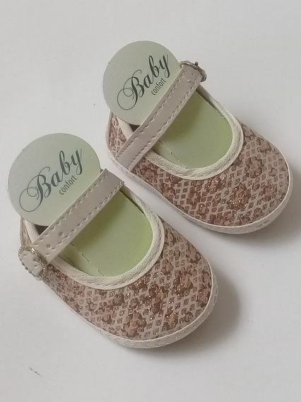 Sapato Sapatinho Infantil Fem Baby Confort - Nº 15 2/3 Meses