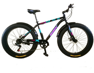Bicicleta Fat Sbk 26 Ct280 Horquilla Rigida Acero 7 Vel Negr