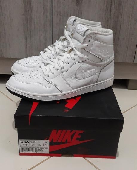 Nike Air Jordan 1 Retro High White Perforated Og & P/entrega