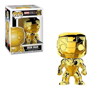 Funko Pop Marvel 10th Anniversary Iron Man Chrome #375