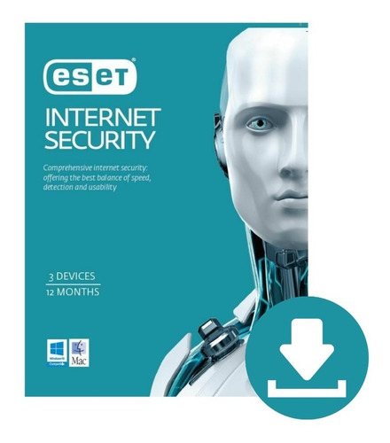 Imagen 1 de 1 de Eset Internet Security Digital 3pcs 1año De Licenciamiento
