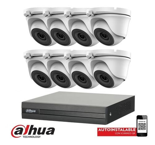 Imagen 1 de 10 de Kit Seguridad Dahua Dvr 8 Camaras 1080p Full Hd Exterior