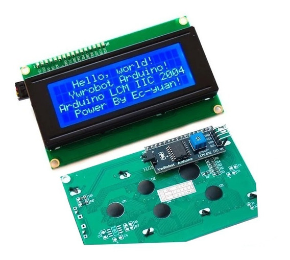 Kit Display Lcd 20x4 Mais I2c Back Azul Pic