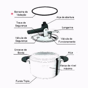 Borracha Vedação Panela Pressão Inox Barazzoni 5/7l