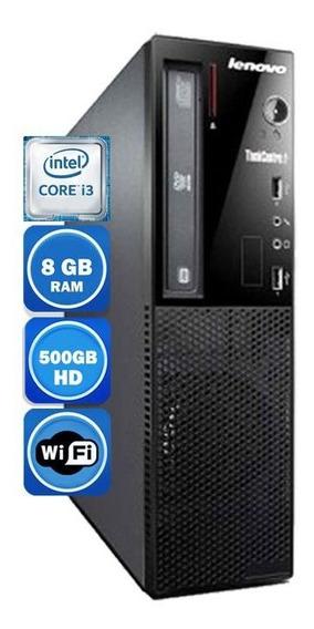 Pc Lenovo Edge 72 Intel I3 3°geração 8gb Hd 500gb Wi-fi