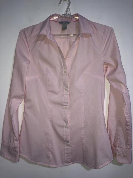 Camisa De Mujer Marca H&m Talle Xs Entallada Y Elastizada
